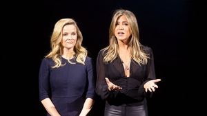 Jennifer Aniston (right) pictured with Reese Witherspoon