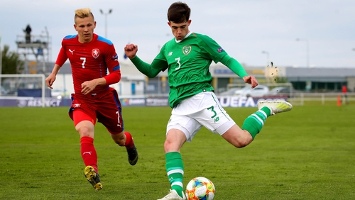 James Furlong in action for the Republic of Ireland Under-17s