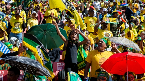 ANC supporters at the final election rally in Johannesburg