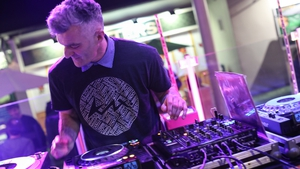 Donal Dineen on the decks at It Takes a Village