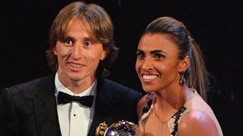 Luka Modric and Marta were last year's big winners at the Best Football Awards