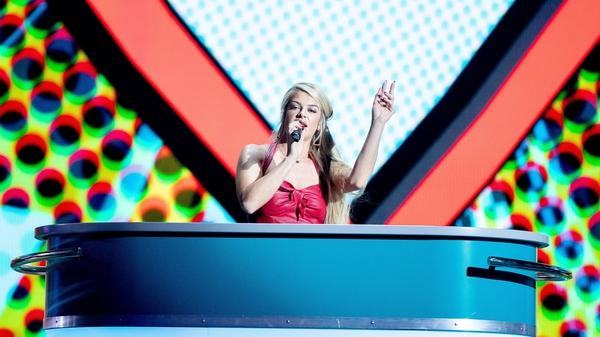 Sarah McTernan during her rehearsal. Image: Eurovision.tv