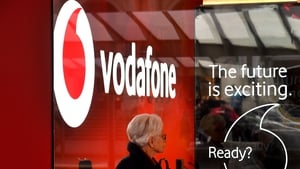Vodafone said its organic core earnings rose 1.4% in the half of the year