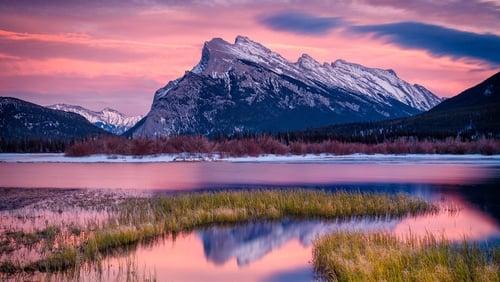 Evening light over Vermillion Lake, Banff, Canada