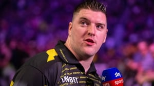 Daryl Gurney drew 7-7 with Gerwyn Price in the Premier League