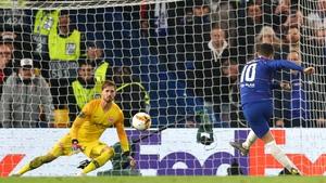 Hazard scored the winning penalty