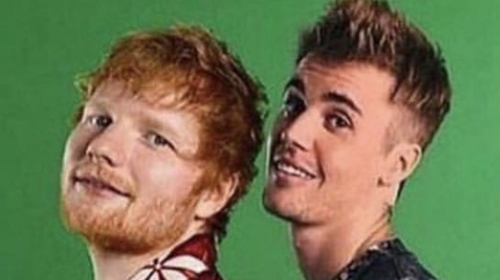 Ed Sheeran and Justin Bieber pic courtesy of Teddy Photos Instagram