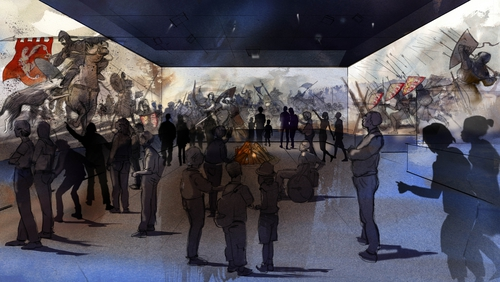 An artist's impression of the proposed new 4D 270-degree visitor experience at Bunratty Castle and Folk Park