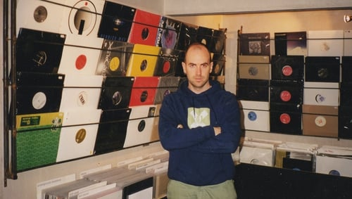 Eamonn Doyle in D1's record shop