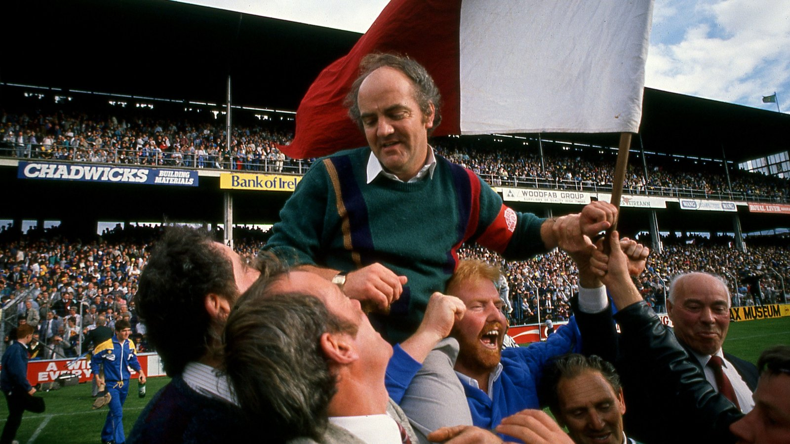 Image - Cyril Farrell is carried by celebrating Galway fans after beating Tipperary in the 1988 All-Ireland