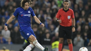 David Luiz scored a penalty in the win over Eintracht Frankfurt on Thursday
