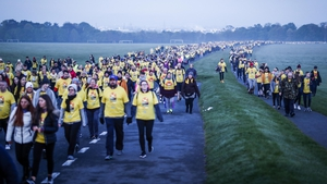 Thousands of people walked in Dublin's Phoenix Park this morning