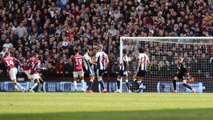Conor Hourihane strikes from distance in the second-half against West Brom