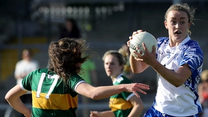 Anna Galvin of Kerry tackles and Waterford's Caoimhe McGrath