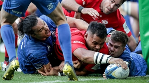 Billy Vunipola reaches for the line to score the second half's only try
