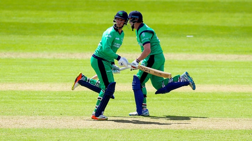 A late burst of runs from Ireland pair Mark Adair and Kevin O'Brien were not enough to set up a win