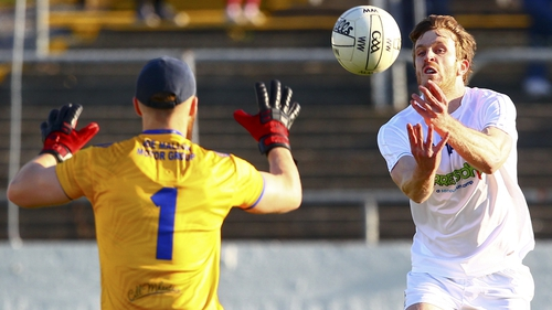 Paddy Brophy scores a point for Kildare