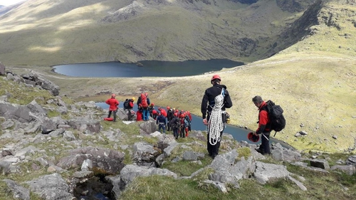 Members of Kerry Mountain Rescue Team were involved in today's operation to recover the body of the climber