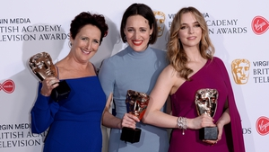 Killing Eve's Fiona Shaw, Phoebe Waller-Bridge and Jodie Comer show off their BAFTA awards