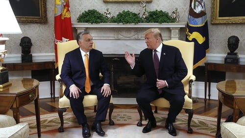 Donald Trump told reporters 'Viktor Orbán has done a tremendous job in so many different ways'