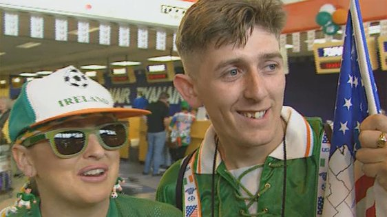 Irish Fans Leave For USA
