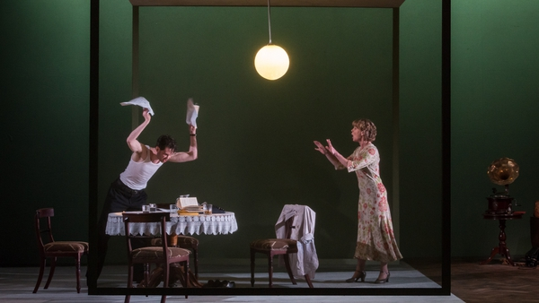 Marty Rea and Samantha Bond star in the Gate's production of The Glass Menagerie