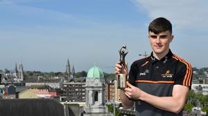 Sean O'Shea collecting his award