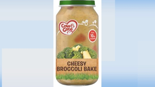 The batch of Cow & Gate Broccoli Bake (10+ months) affected was sold by Boots Ireland