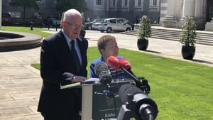 Minister Charlie Flanagan and Norah Gibbons pictured at launch of the study