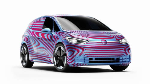 The compact-sized ID3 all-electric will be the first of many from VW.