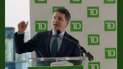 Finance Minister Paschal Donohoe at the launch of TD Securities new Dublin offices