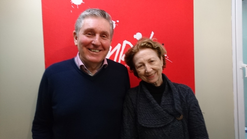 Ron Carey with Poetry Programme host Olivia O Leary