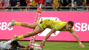 John Porch touching down for the Australian Sevens