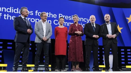 The live television debate was screened for millions of people across Europe