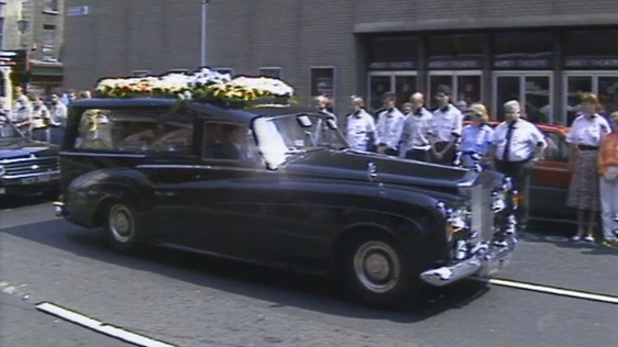 Ray McAnally's funeral.