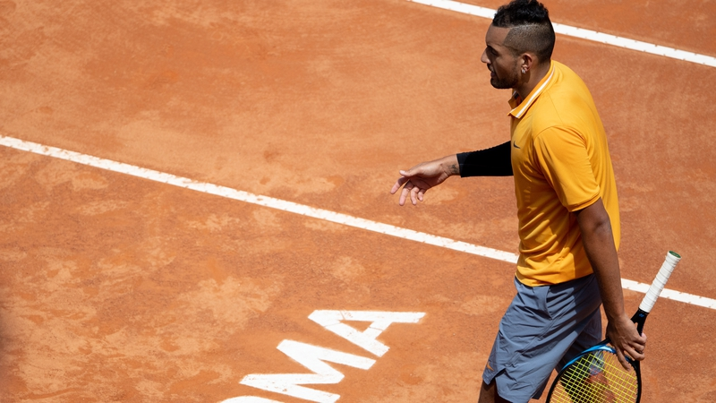Irate Kyrgios disqualified from Italian Open