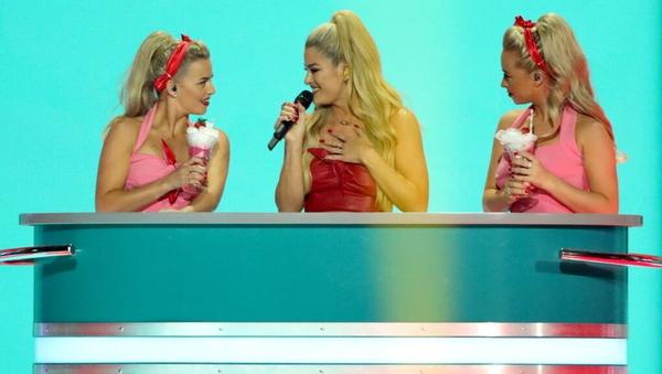 Ireland's Sarah McTernan performing at the Eurovision second semi-final