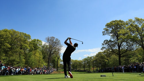 Brooks Koepka has the rest of the field behind him as he goes into the second round at Bethpage