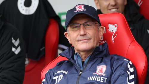 Middlesbrough chairman Steve Gibson reacts to Tony Pulis' departure