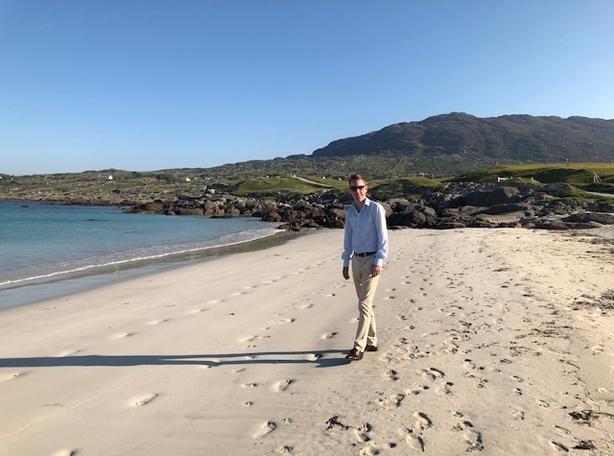 Ryan at Dog's Bay Beach.