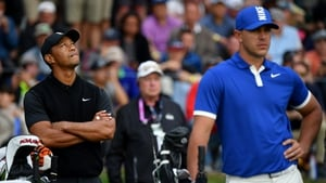 Brooks Koepka is tearing away from the field - as Woods falls wrong side of the cut