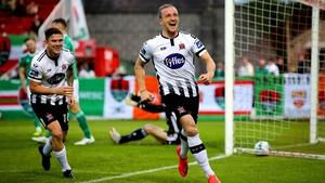 John Mountney celebrates scoring