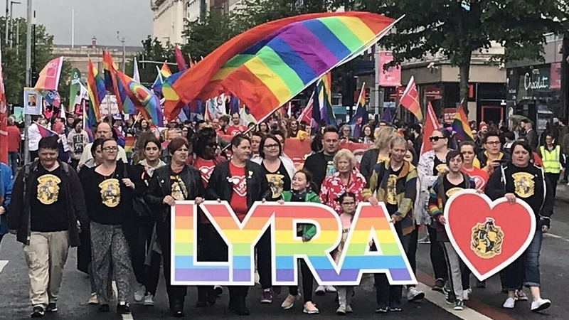 Thousands march in Belfast in same-sex marriage call