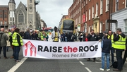 The protest heard calls for a legal right to housing