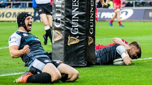 Ospreys are back in the Champions Cup with a 21-10 win over Scarlets
