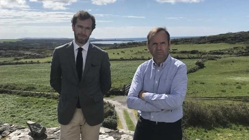 Ms Toscan du Plantier's son Pierre-Louis Baudey-Vignaud (L) and her brother Bertrand Bouniol in Schull