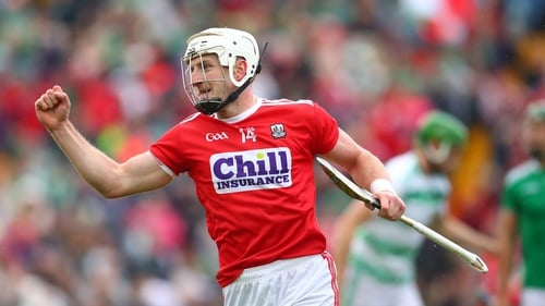 Patrick Horgan punches the air with delight for Cork