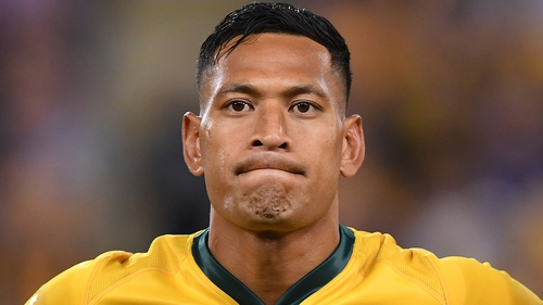 Israel Folau had his AU$1m per year contract cancelled