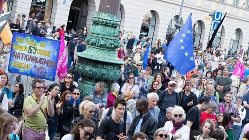 In the EU elections, far-right and nationalist parties gained more seats than other parties in Italy, France, Poland, Hungary, and Britain (Photo by Alexander Pohl via Getty Images).