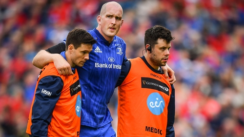 Devin Toner left the field of play against Munster with a knee injury